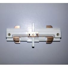 Коннекторы прямые белые для направляющих Две фазы